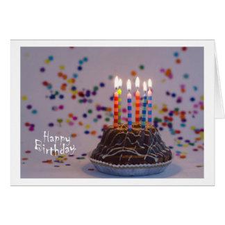 Happy Birthday Cartão Comemorativo