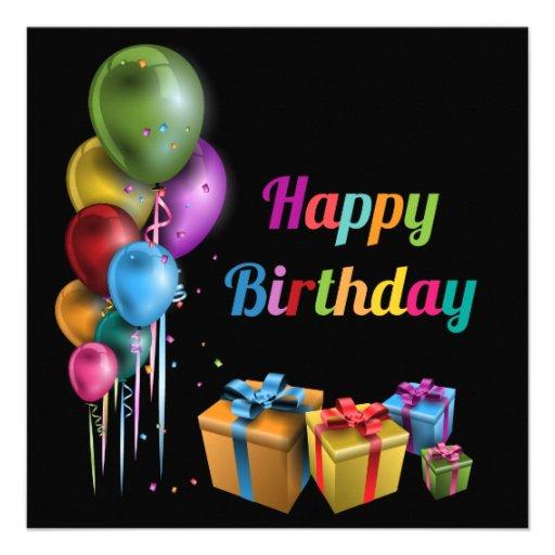 Happy Birthday cartão Convites