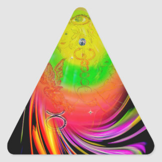Happy Birthday Gemini Adesivo Triangular