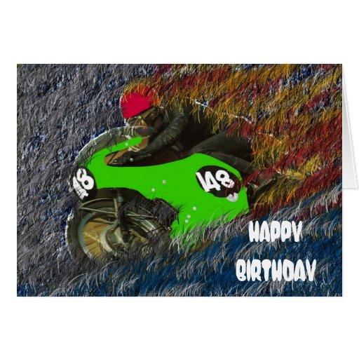 HAPPY BIRTHDAY MOTORCYCLE MOTO CARTÃO