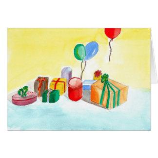 Happy Birthday - Watercolour by Paul Riedel 2010 Cartão Comemorativo