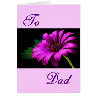 Happy Father's Day Purple Pink Daisy II Cards