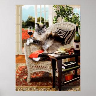 Happy hour engraçado dos gatinhos do poster do