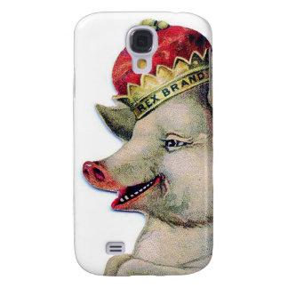 Happy pig king capas personalizadas samsung galaxy s4