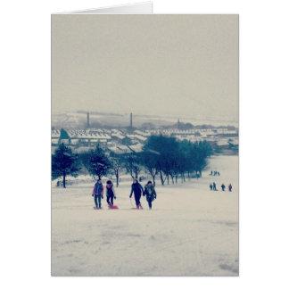 Harle Syke na neve Cartão Comemorativo