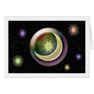 Harmonia celestial cartão comemorativo