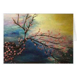 Harmonia da flor de cerejeira cartão