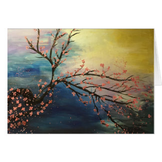 Harmonia da flor de cerejeira cartão comemorativo