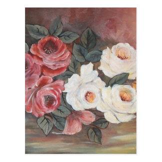 Harmonia de Rosas - óleo - 40x60 Cartão Postal
