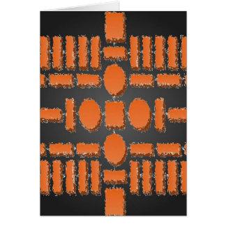HARMONIA - padrões futuristas da alpondra Cartão
