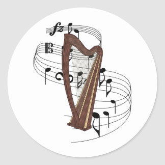 Harpa Adesivo Redondo