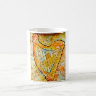 harpa do ouro caneca de café