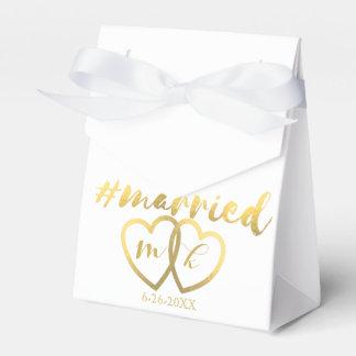Hashtag casou o favor do casamento caixinha de lembrancinhas para festas
