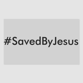 hashtag salvar por jesus adesivo retangular