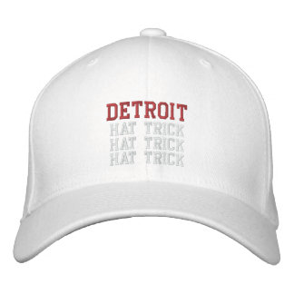 HAT-TRICK de Detroit Boné Bordado