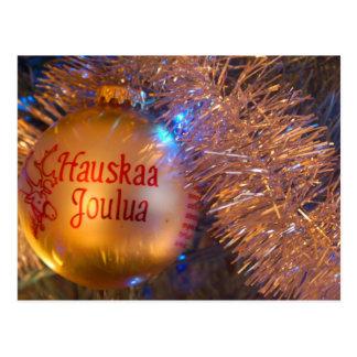 """Hauskaa Joulua """"Feliz Natal """" Cartão Postal"""