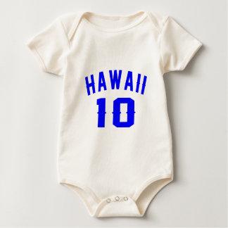 Havaí 10 designs do aniversário macacãozinhos para bebê