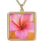 Hawaiian cor-de-rosa da flor de Havaí do Frangipan Bijuteria