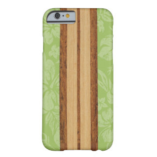 Hawaiian de madeira da prancha do falso da praia capa barely there para iPhone 6