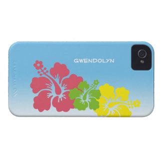 Hawaiian tropical do trio da flor das flores do capa para iPhone