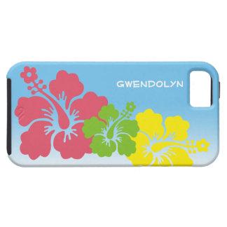 Hawaiian tropical do trio da flor das flores do capas para iPhone 5
