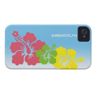 Hawaiian tropical do trio da flor das flores do hi capa iPhone 4