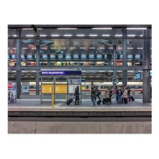 Hbf, estação, Berlim, Alemanha Cartão Postal