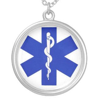 healthcare_symbol colar com pendente redondo