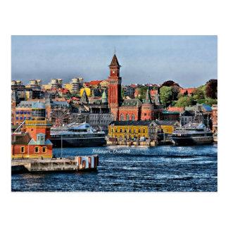 Helsingor, arquitectura da cidade de Dinamarca Cartão Postal