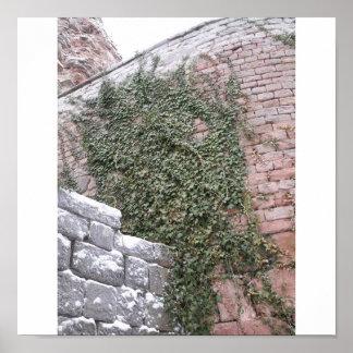 Hera na parede do castelo pôster