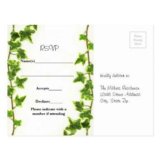 Hera verde - cartão de RSVP Cartão Postal