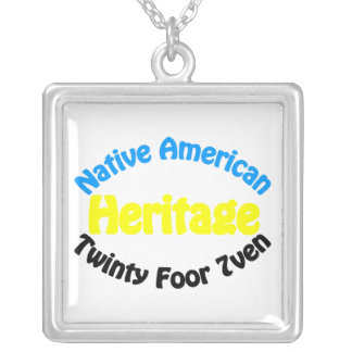 Herança do nativo americano - Twinty Foor 7ven Colar Banhado A Prata