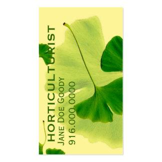 Herbalist de jardinagem cartão de visita
