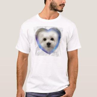 Hermes o maltês camisetas