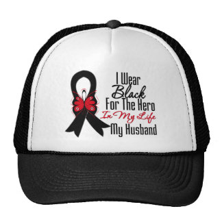 Herói da fita do cancer de pele meu marido boné
