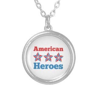 Heróis americanos colar com pendente redondo