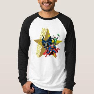 Heróis da estrela da liga de justiça t-shirts