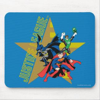 Heróis da estrela da liga de justiça mouse pad