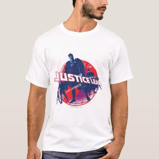 Heróis e globo globais da liga de justiça camiseta