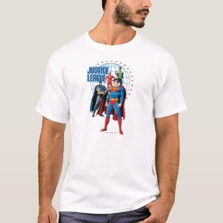 Heróis globais da liga de justiça camiseta
