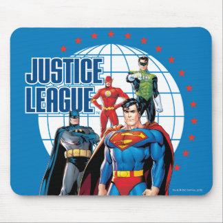 Heróis globais da liga de justiça mouse pad
