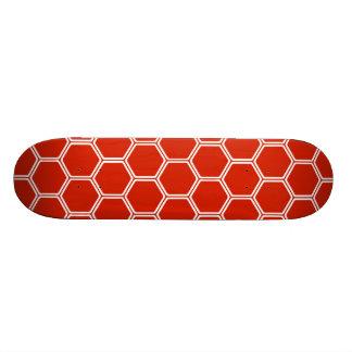Hexágono carmesim 1 shape de skate 18,4cm