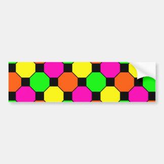 Hexágonos verdes alaranjados dos quadrados pretos  adesivo para carro