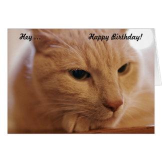 Hey… feliz aniversario! Cartão de aniversário com