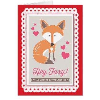 Hey Foxy! por Origami imprime namorados cartão