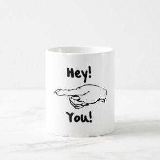 Hey! Você! Caneca De Café