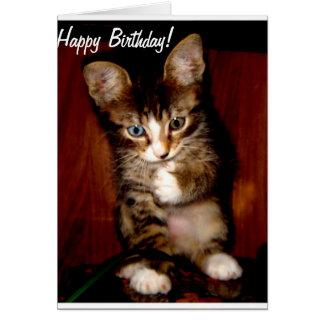 Hey você - feliz aniversario! cartão comemorativo