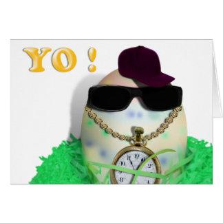 Hey, YO! Gansta feliz Easta Cartão Comemorativo