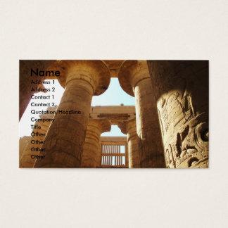 Hieroglyphics de Pharaohnic, imagem do templo de Cartão De Visitas