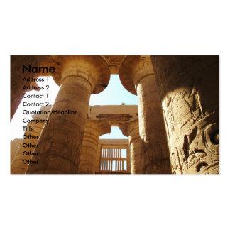 Hieroglyphics de Pharaohnic, imagem do templo de K Modelo Cartão De Visita